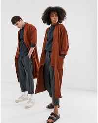 Seeker Unisex Kimono Duster In Organic Hemp Cotton