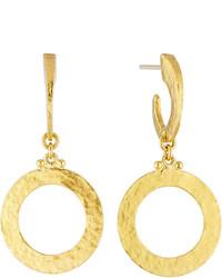 Gurhan Mango 24k Hoop Drop Earrings