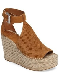 Ltd annie perforated espadrille platform wedge medium 3751398