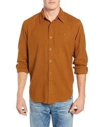 Tobacco Flannel Long Sleeve Shirt