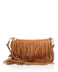 Rebecca Minkoff Finn Fringed Convertible Leather Crossbody Bag