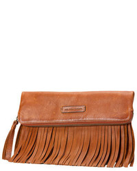 Frye Heidi Fringe Leather Crossbody Bag Whiskey