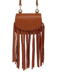 JULES KAE Mini Dylan Fringe Faux Leather Crossbody Bag