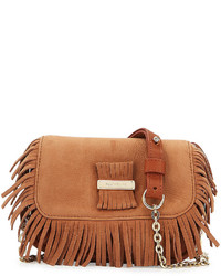 See by Chloe Rosita Mini Fringe Leather Crossbody Bag Nougat