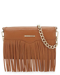 Rebecca Minkoff Universal Fringe Leather Crossbody Bag Almond