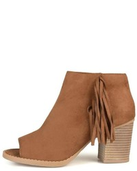 Journee Collection Bootie With Fringe