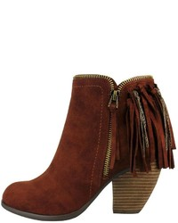 Not Rated Flippin Fringe Booties