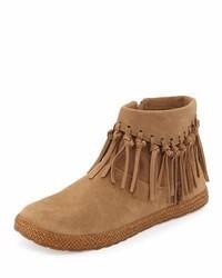 UGG Shenendoah Fringe Ankle Boot Dark Chestnut