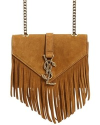 Tobacco Fringe Suede Crossbody Bag