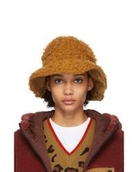 Sjyp Brown Wool Hairy Hat