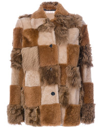 Marni Patchwork Fur Coat
