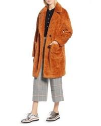 Halogen X Atlantic Pacific Faux Fur Coat