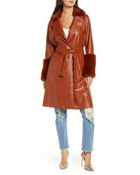 BLANKNYC Faux Leather Coat With Faux