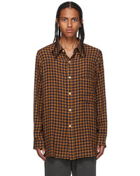 Bed J.W. Ford Brown Navy Checked Shirt