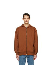 Acne Studios Brown Pink Label Zip Hoodie