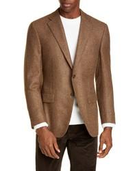 Canali Sienna Soft Houndstooth Cashmere Sport Coat