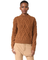 Edyta cable knit sweater medium 5086543