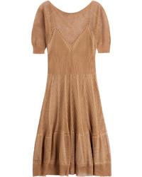 Alberta Ferretti Knitted Linen Silk Dress