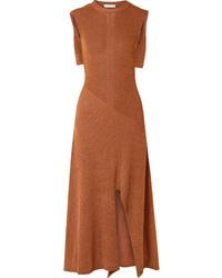 Chloé Cape Effect Knitted Midi Dress