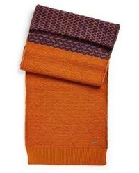 Hugo Boss Ammo  Two Tone Knit Scarf