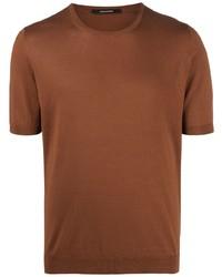 Tagliatore Knitted Silk T Shirt