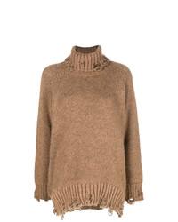 Maison Flaneur Nibbled Turtleneck Sweater