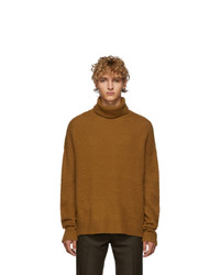 Acne Studios Brown Cashmere And Wool Oversized Nyran Turtleneck