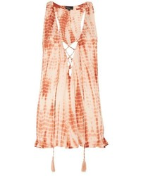 Topshop Tie Dye Lace Up Playsuit