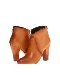 Tobacco Leather Ankle Boots