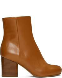 Brown leather ankle boots medium 1044427