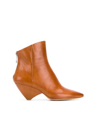 0e6bafe4bb08 Women s Tobacco Leather Ankle Boots by Maison Margiela