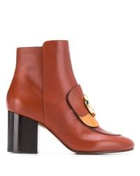 Chloé Heeled C Logo Boots