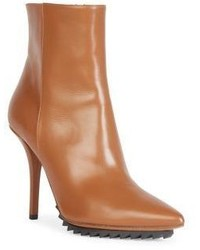 Givenchy Iron Line Leather Point Toe Ankle Boots