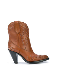 Givenchy Western Style Ankle Boots