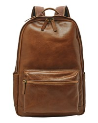 Fossil Buckner Leather Backpack