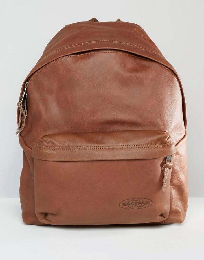 ... Eastpak Padded Pak R Leather Backpack ...
