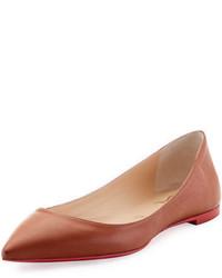 Christian Louboutin Ballalla Smooth Leather Red Sole Ballerina Flat