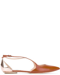 Casadei Pointed Toe Ballerinas
