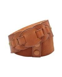 Tobacco Leather Belt