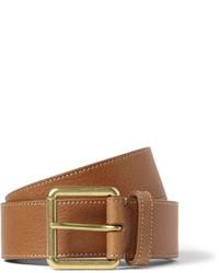 35cm brown full grain leather belt medium 707371