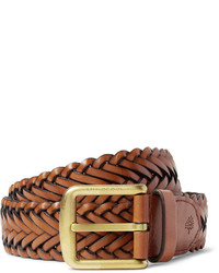 4cm brown woven leather belt medium 578113