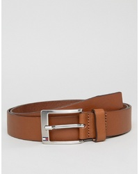 Tommy Hilfiger Aly Leather Belt In Tan