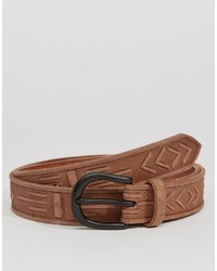Asos Brand Handcarved Leather Belt