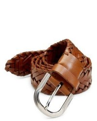Brunello Cucinelli Leather Braided Belt