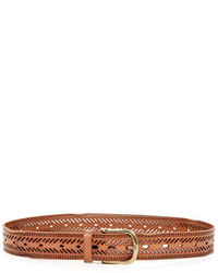 Linea Pelle Leather Chevron Perforated Hip Belt