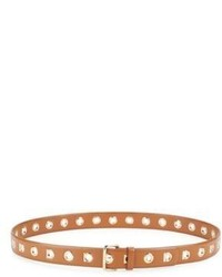 Salvatore Ferragamo Leather Eyelet Belt