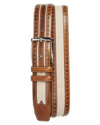 Mezlan Palma Linen Leather Belt