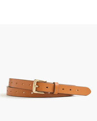 Perforated italian leather belt medium 1252836