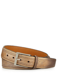 Neiman Marcus Perforated Leather Belt Castoro