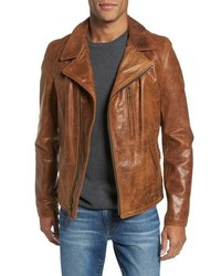 Schott NYC Asymmetrical Waxy Leather Jacket